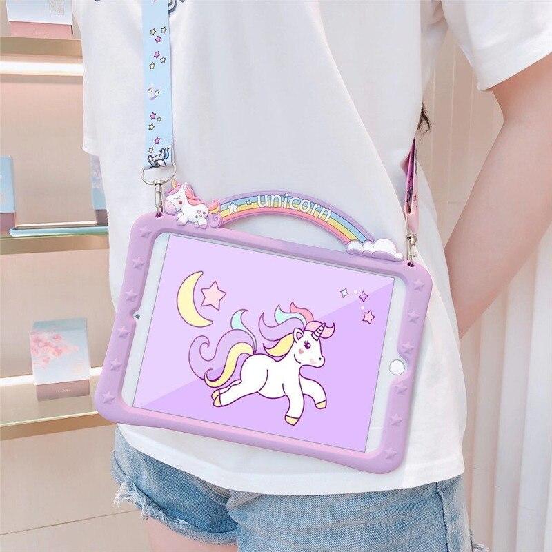 Funda de dibujos animados de unicornio para niños Funda de silicona con...