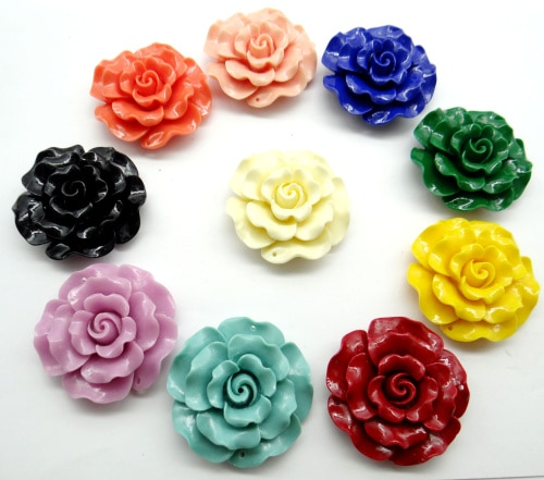 Cinábrio natural Orgânico Chinês carve de charme flor De cristal de Quartzo Pingente para diy fazer Jóias Colar Acessórios A8