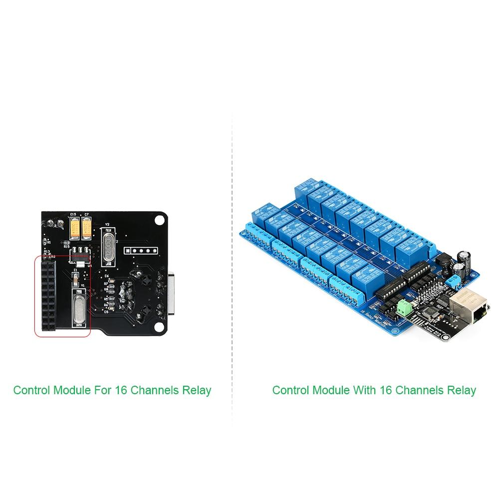 Nuevo módulo de Control Ethernet servidor Web de red Lan Wan Puerto RJ45 + tarjeta de expansión de relés de 16 Canales para relé Arduino iOS