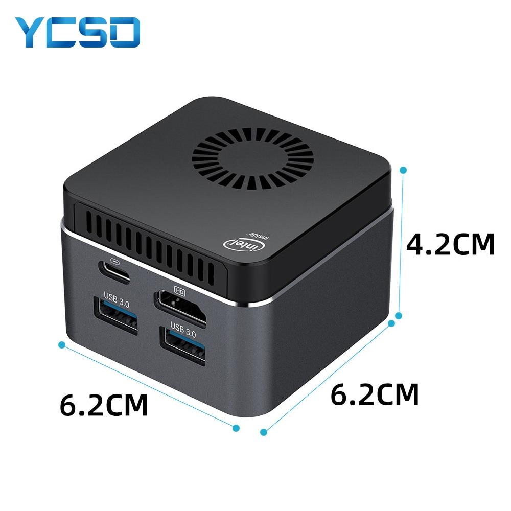 Mini PC Computer Intel Celeron N4100 Quad-Core 8GB LPDDR4 128GB 2.4G/5.0G WiFi Bluetooth 4.2 HDMI2.0 4K USB-C Windows 10