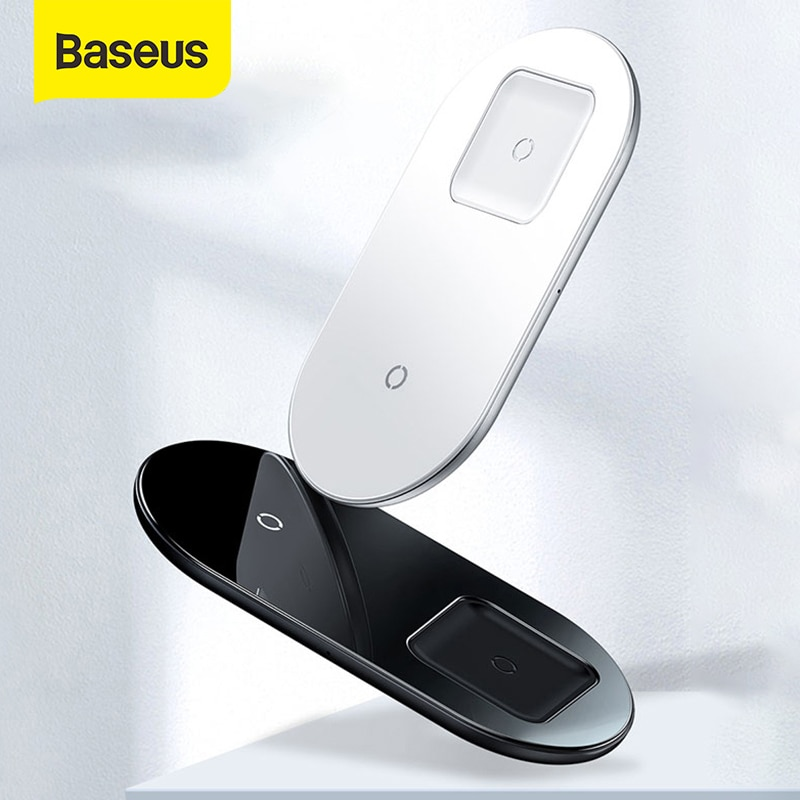 Baseus 2 in1 شاحن لاسلكي شحن سريع آيفون 11 برو ماكس Airpods لسامسونج S10 هواوي 15 واط تشى شاحن لاسلكي سريع