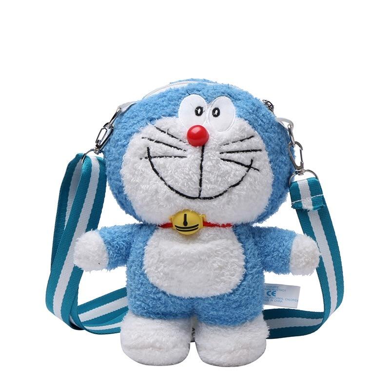 Doraemon bags-محفظة للطلاب ، كارتون ، قطيفة لطيفة