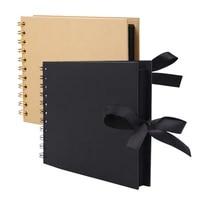 30 pages diy bowtie ribbon scrapbook craft paper photo picture album memory book