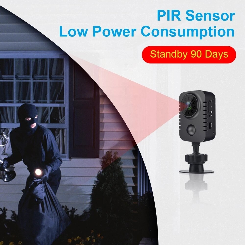 MD29 Mini Camera PIR Motion Detection Low Power HD 1080P Sensor Night Vision Camcorder Action DVR Micro Sport DV Video Small Cam enlarge