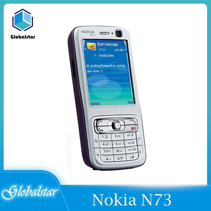 Nokia N73 Refurbished Original Nokia N73 Mobile Cell Phone Unlocked GSM English Arabic Russian Keybo