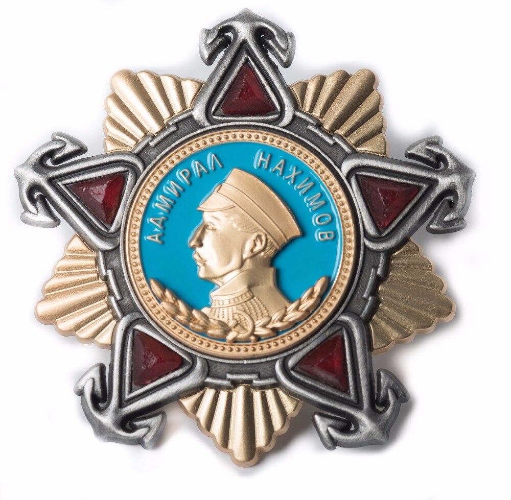 WWII SOVIET UNION USSR 1ST CLASS PAVEL NASIMOV MEDAL AWARD ORDER BADGE Military Store