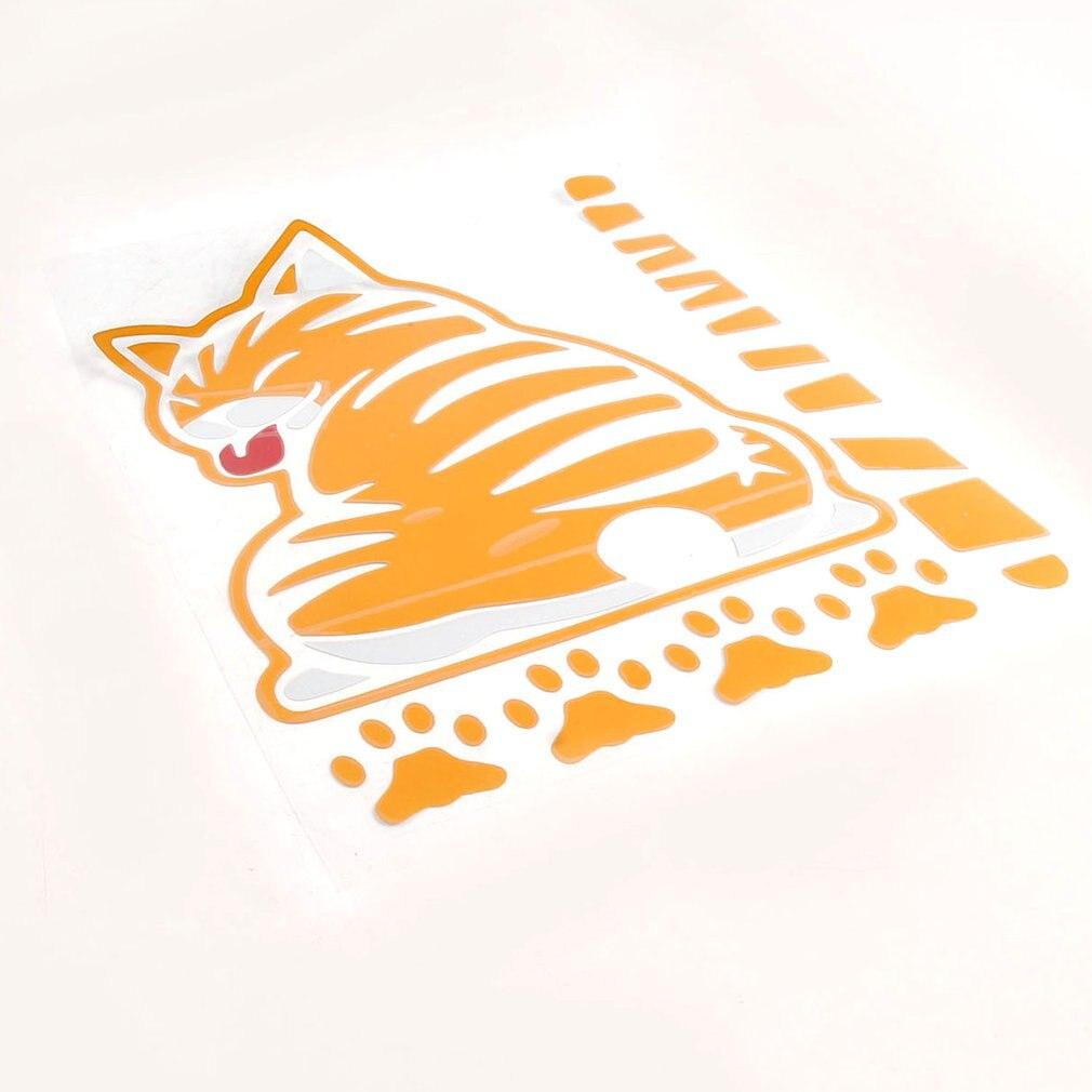 Pegatina con cola móvil autoadhesiva a prueba de agua divertida caricatura de gato decoración autoadhesiva para el exterior del coche