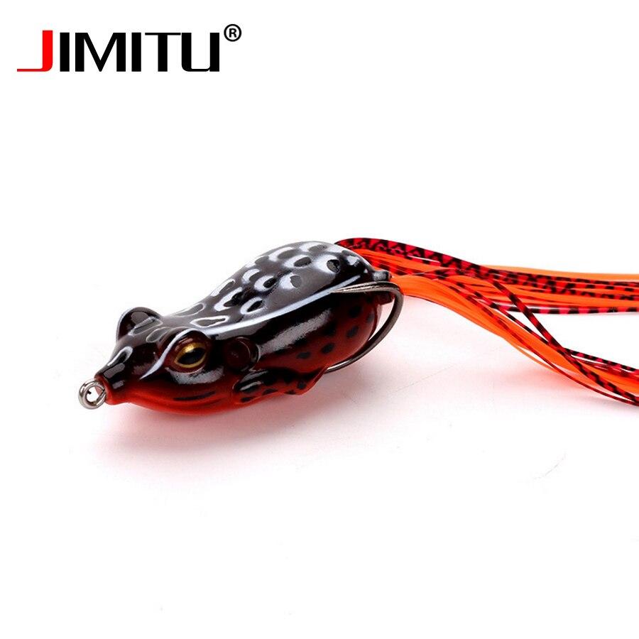 JIMITU Мягкая приманка-лягушка 60 мм 15 г, Реалистичная приманка для мухи, троллинга, насекомых, рыболовная приманка на окуня, форель, силиконовая...