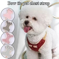 bowknot safe chest strap pet traction rope adjustable pet products cat dog harness dog leash sweet dog pulling rope