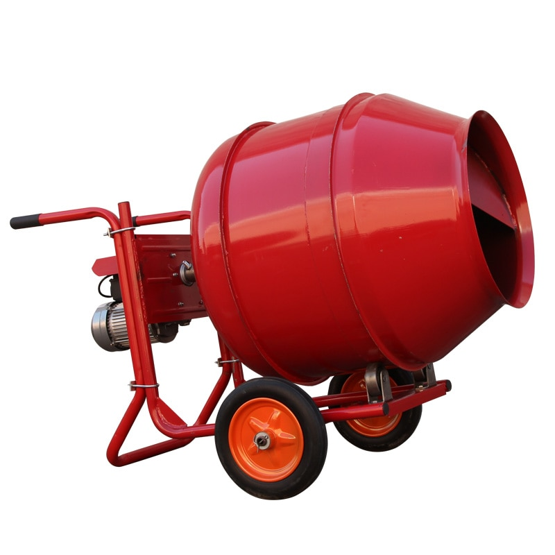 220v 280L 4KW cement mortar mixer concrete sand and gravel feed electric roller consumer and commercial small mixing machine