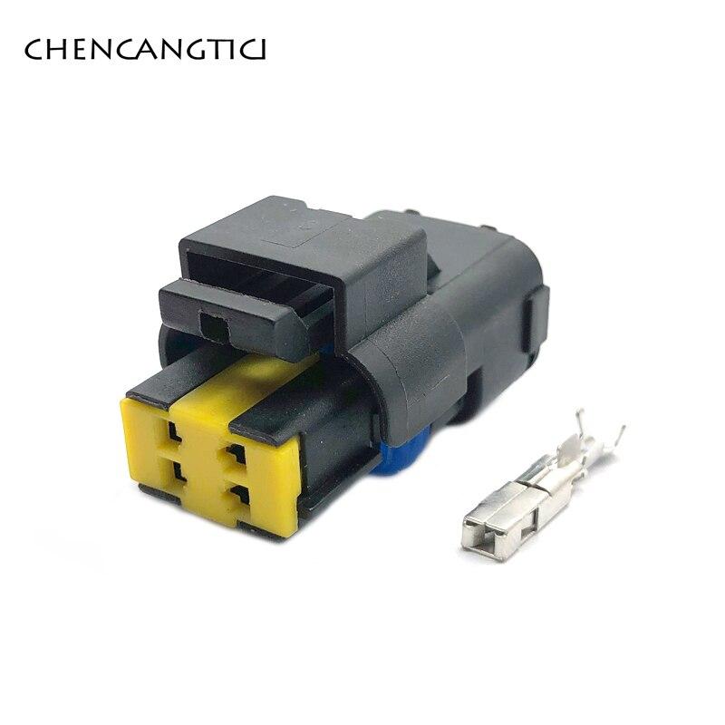 4 Pin BYD флейта Датчик Давления Разъем Автомобильный водонепроницаемый газ гнездо разъем SICFHPE04BK 15369055