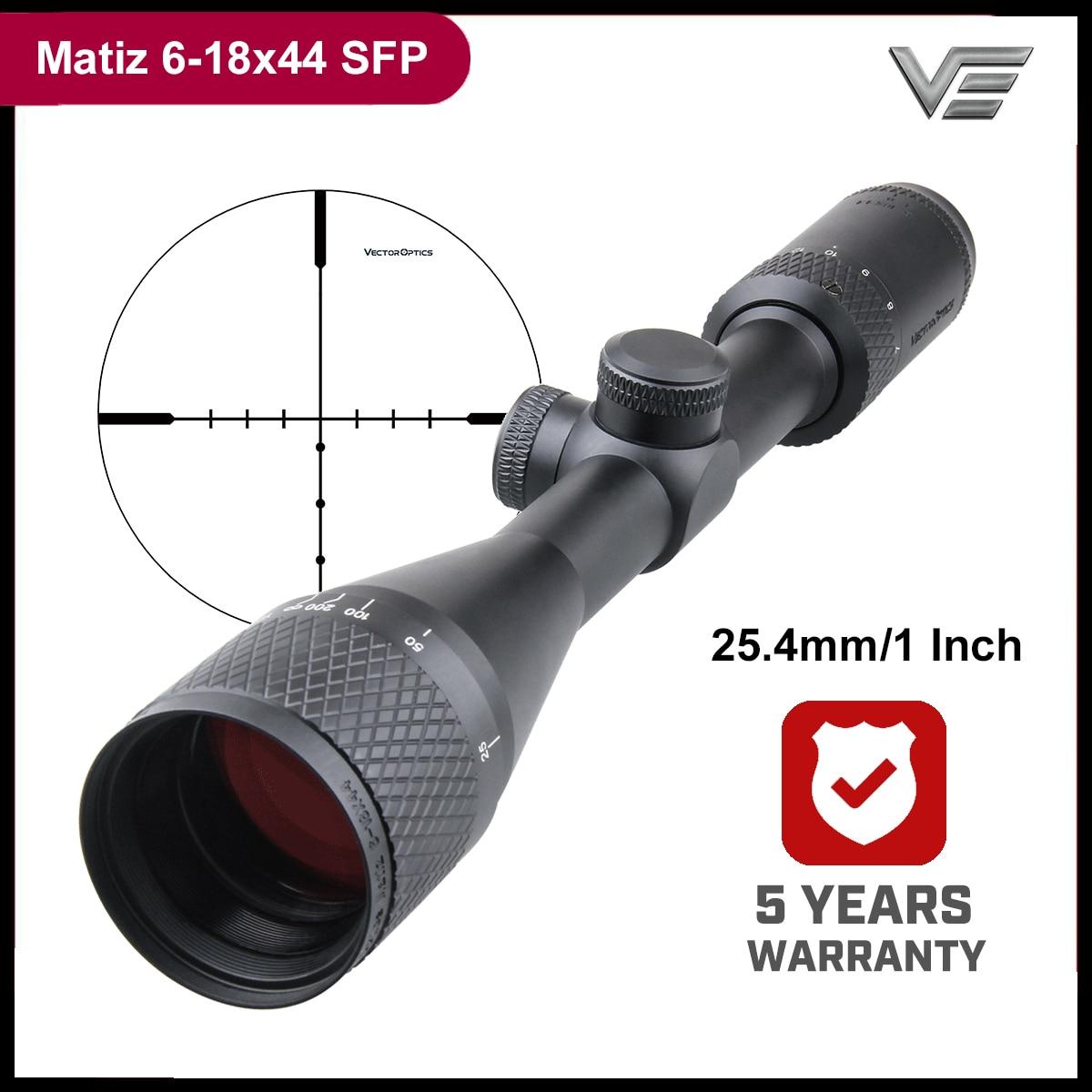 Vector Optics Matiz 6-18x44 Tactical Riflescope High Quality 25.4mm 1'' Tube Diameter 1/4 MOA Adjustment 3x Zoom