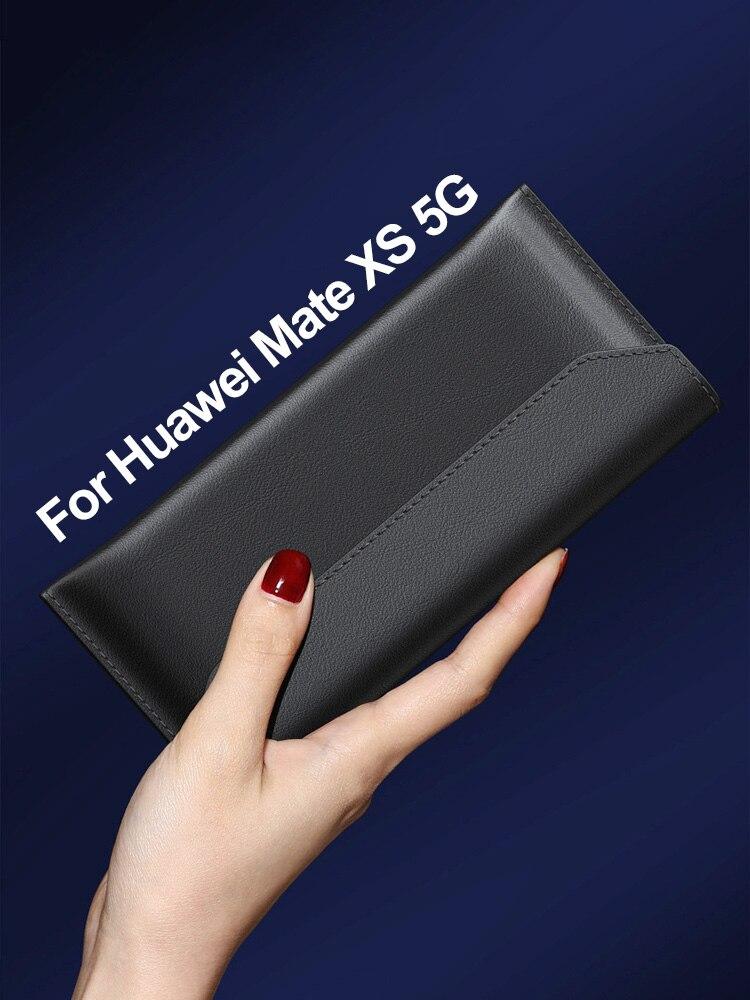 Para HUAWEI Mate XS funda FAYAHA Original plegable de cuero genuino sobre Protector a prueba de golpes para Huawei Mate X 5G 4G funda