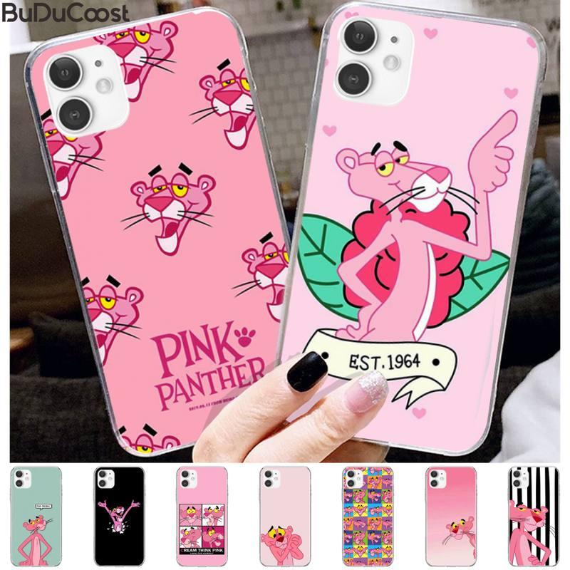 Nobby hermosa Pantera Rosa hermosa funda de lujo del teléfono para el iphone 11 Pro11 Pro Max X 8 7 6 6S Plus 5 5S SE cass