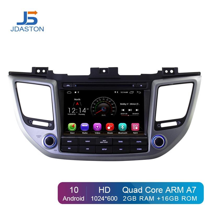 JDASTON Android 10,0 автомобильный dvd-плеер для Hyundai Tucson/IX35 2015 2016 2017 Мультимедиа GPS навигация 2 Din автомобильное радио аудио WIFI