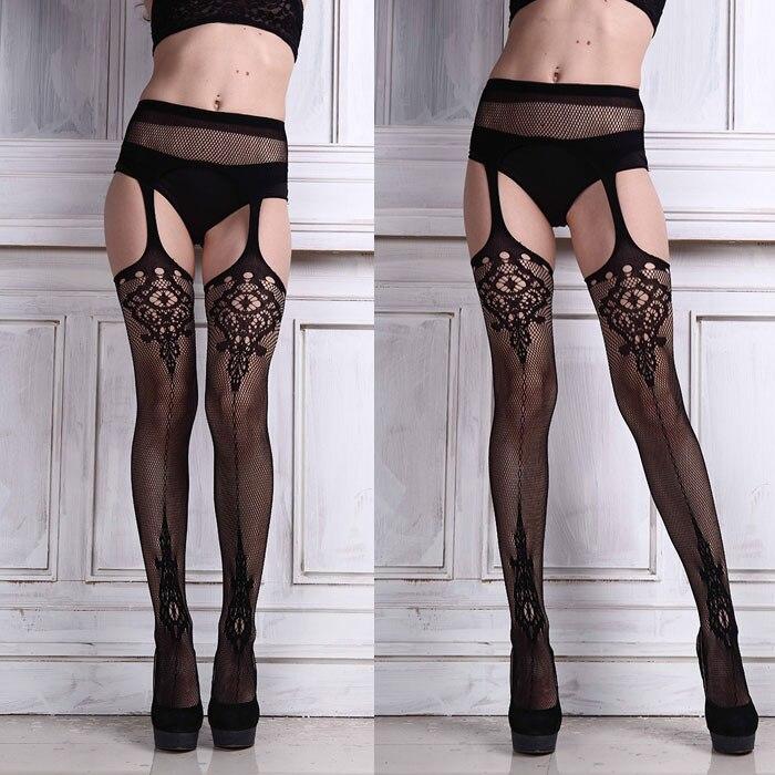 Sexy Stocking Women Lingerie Net Lace Top Garter Belt Thigh Stocking Pantyhose Suspender Sexy Women Stockings Pantyhose Meias