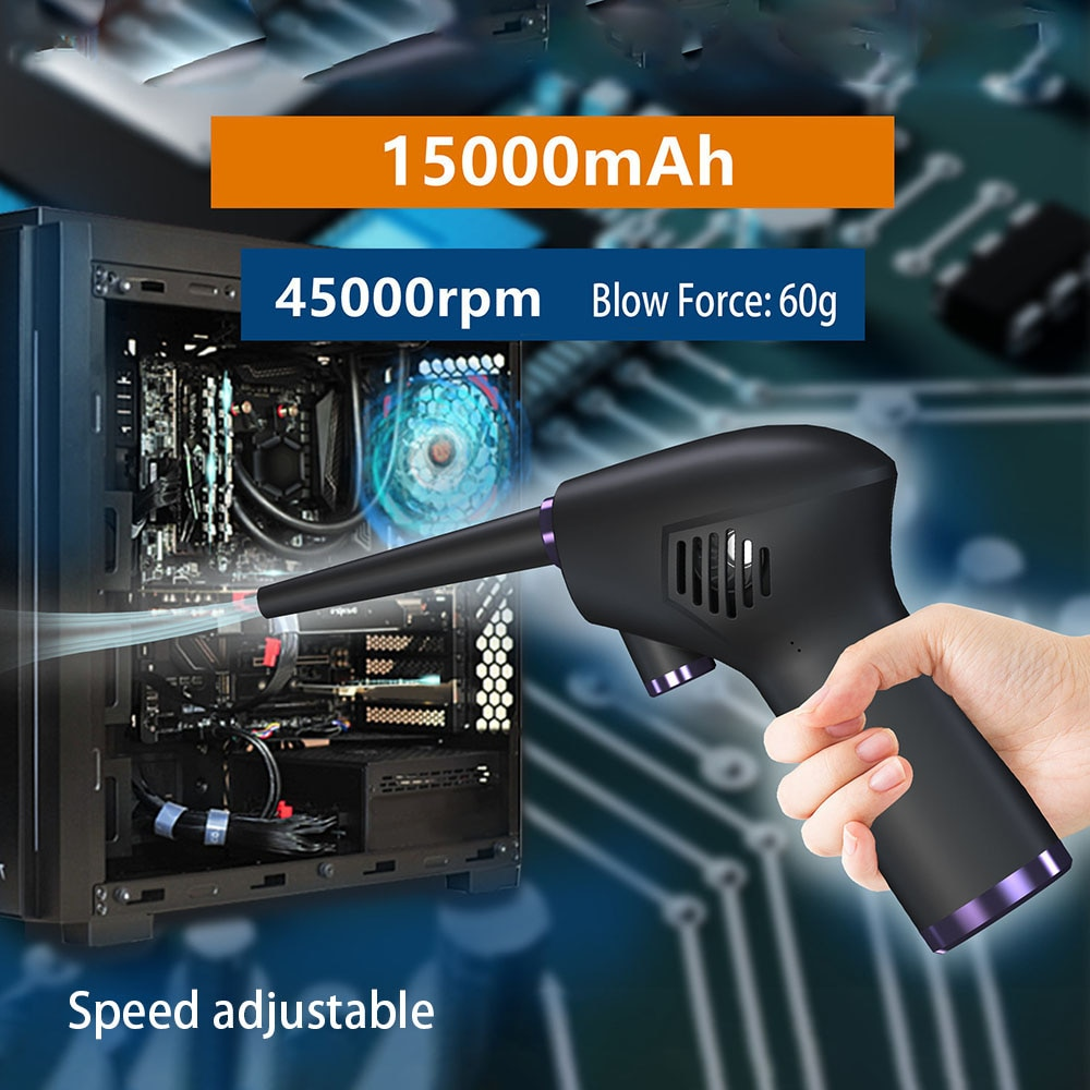 Akülü hava silgi basınçlı hava üfleyici elektrikli hava silgi bilgisayar klavye için elektronik temizlik kamera için