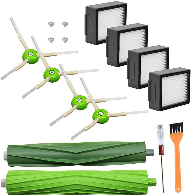 Hepa Filter Side Brush for iRobot Roomba i7 i7+ i6 i8 i3 Plus E5 E6 E7 3150 E&I Series Vacuum Cleaner Replacement Accessories