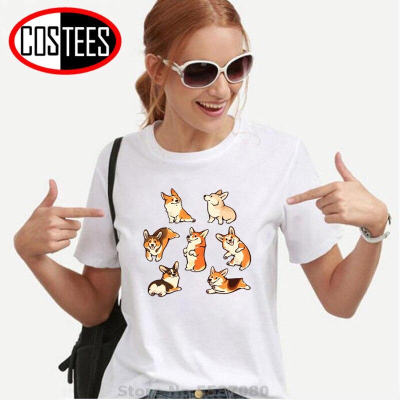 Camiseta para Mujer, camisetas hipster, camisetas Kawaii Jolly Corgi, camisetas para Mujer, Camiseta Corgi linda, Camiseta para niños, amantes de los perros, regalo perfecto, Camiseta de marca