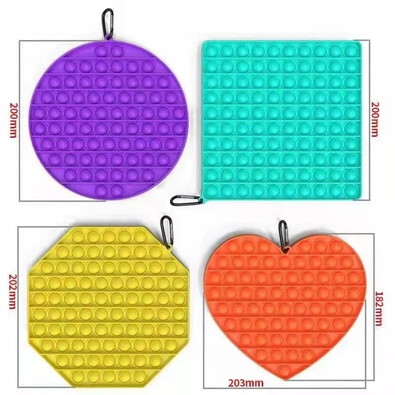 Pops It Push Bubble Fidget Toys Big Size For Schoolbag Pendant Hot Adult Stress Relief Toy Popit Squishy Kids Anti-Stress Gift enlarge