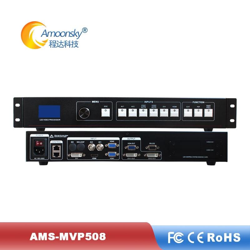 Gran descuento, procesador de pared de vídeo ams-mvp508 compatible con el transmisor linsn ts802d, tarjeta de control para perimetral, pantalla led a todo color