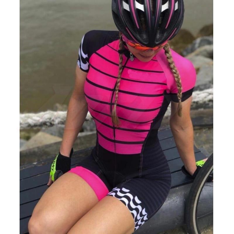 النساء المهنة الترياتلون دعوى الملابس Aofly الدراجات Skinsuit الجسم مجموعة الوردي Roupa دي Ciclismo السروال القصير الذهاب برو فريق بذلة مجموعات