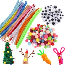 Красочные Плюшевые палочки помпоны Радужный цвет синель стебли для детей творческие развивающие DIY игрушки куклы материал ручной работы Искусство ремесло
