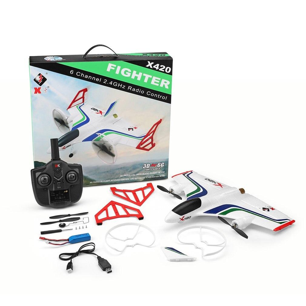 Nuevo avión X420 RC 6CH 3D/6G despegue y aterrizaje truco RC Drone 050 fuerte Motor magnético Avión de Control remoto Avión RC avión