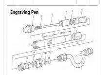 5 pièces de NO1. Pièces pour les pièces doutils de stylo à découper pneumatique