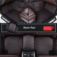 durable leather customized car floor mat for toyota rav4 land cruiser prado corolla alphard camry prius c hr car accessories