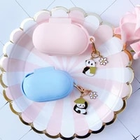 cute korean silicone case for samsung galaxy buds buds plus cover bluetooth earphone accessories protect sleeve keyring decor