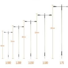 20 pièces 175-200 échelle modèle chemin de fer lampadaire lampadaires LED 3V modèles miniatures bâtiment paysage