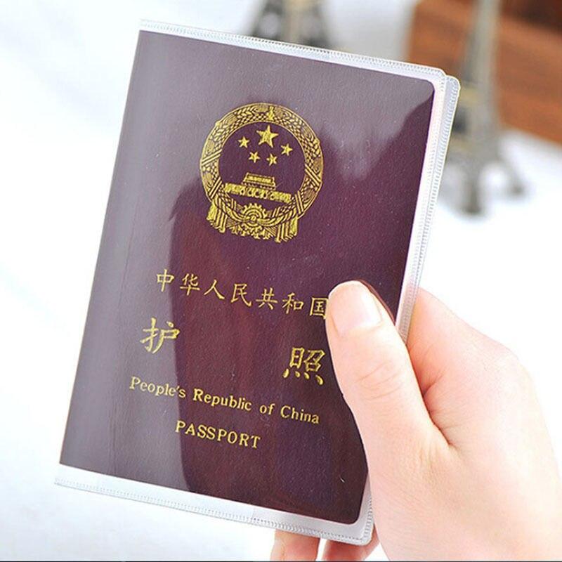 Slim Travel wodoodporne etui na paszport pokrowiec na portfel przezroczyste etui na dowód osobisty wizytownik