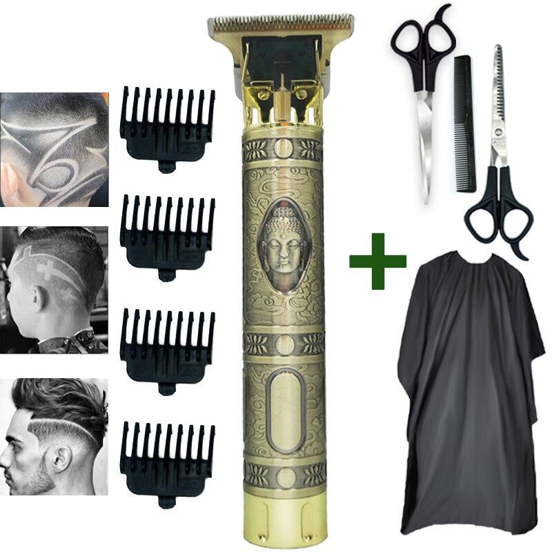 Cortadora de pelo, maquinilla eléctrica para cortar el pelo, afeitadora inalámbrica, recortadora de pelo de 0mm para hombre, Barbero, Máquina para cortar Cabello, cortadora de pelo tallada, peluquero 5
