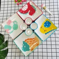 ceramic household underglaze tableware snack plate breakfast plate with vinegar plate sushi plate dipping plate division plate