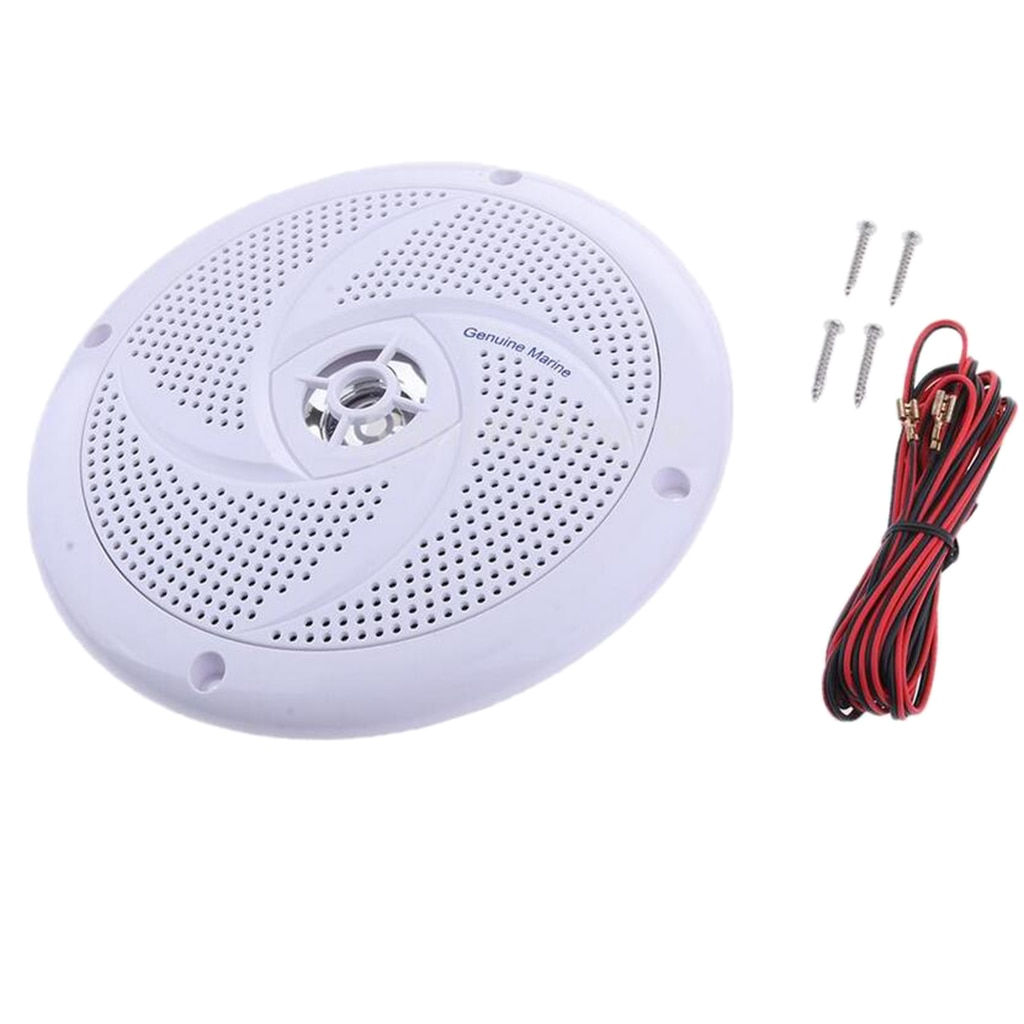 Marine Speaker 6.5' Waterproof Speaker Audio Amplifier Loudspeaker With Cable for Boat Marine Car RV
