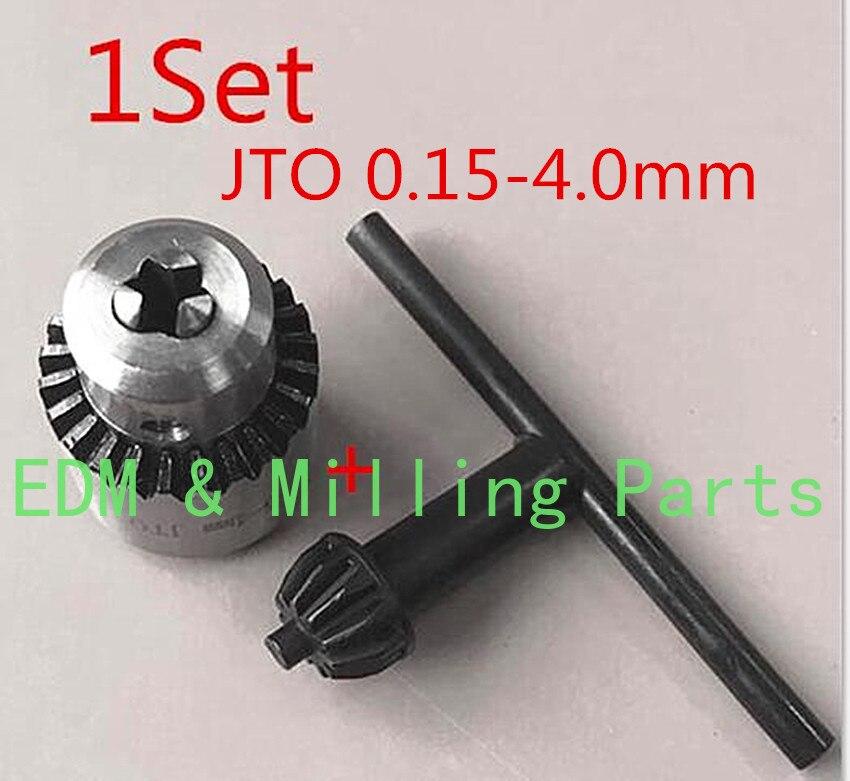 1 مجموعة مثقاب CNC آلة الجزء المفك حفر تشاك JTO 0.15-4.0 مللي متر + وجع ل EDM ماكينة حفر