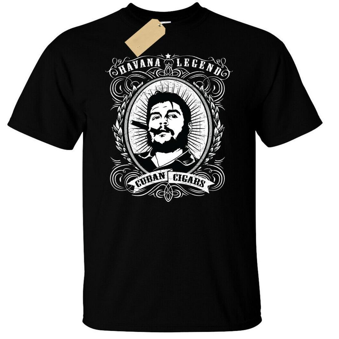 Puros cubanos Tops camiseta para hombre Che Havana Legend camiseta Última Noticia Style