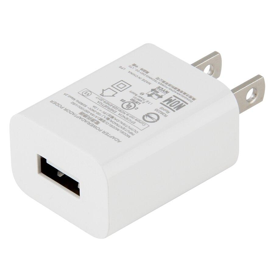 5 unids/lote cargador USB 5V 1A carga de Teléfono Universal 5W cargador de pared portátil adaptador de corriente USB carga para cargadores de teléfonos móviles