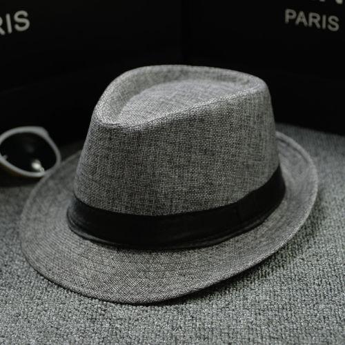 Unisex Straw Fedora Sun Hat Panama Trilby Crushable Mens Lady Foldable Travel With Black Belt Hot Sa