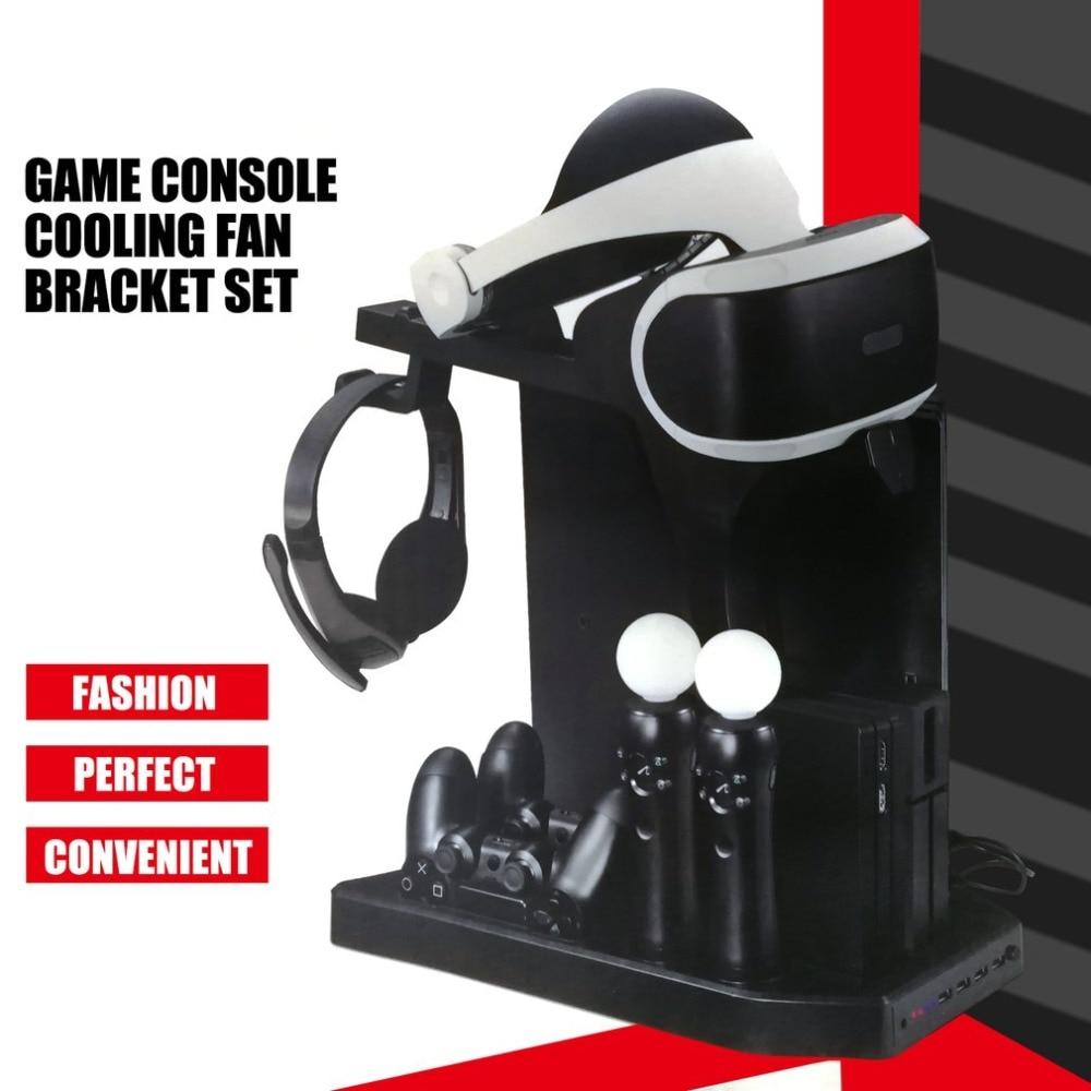 KJH контроллер зарядного устройства вертикальная подставка геймпад зарядная док-Консоль кулер для PS Move для PS4 Slim для PS4 Pro для PSVR/PSVR2