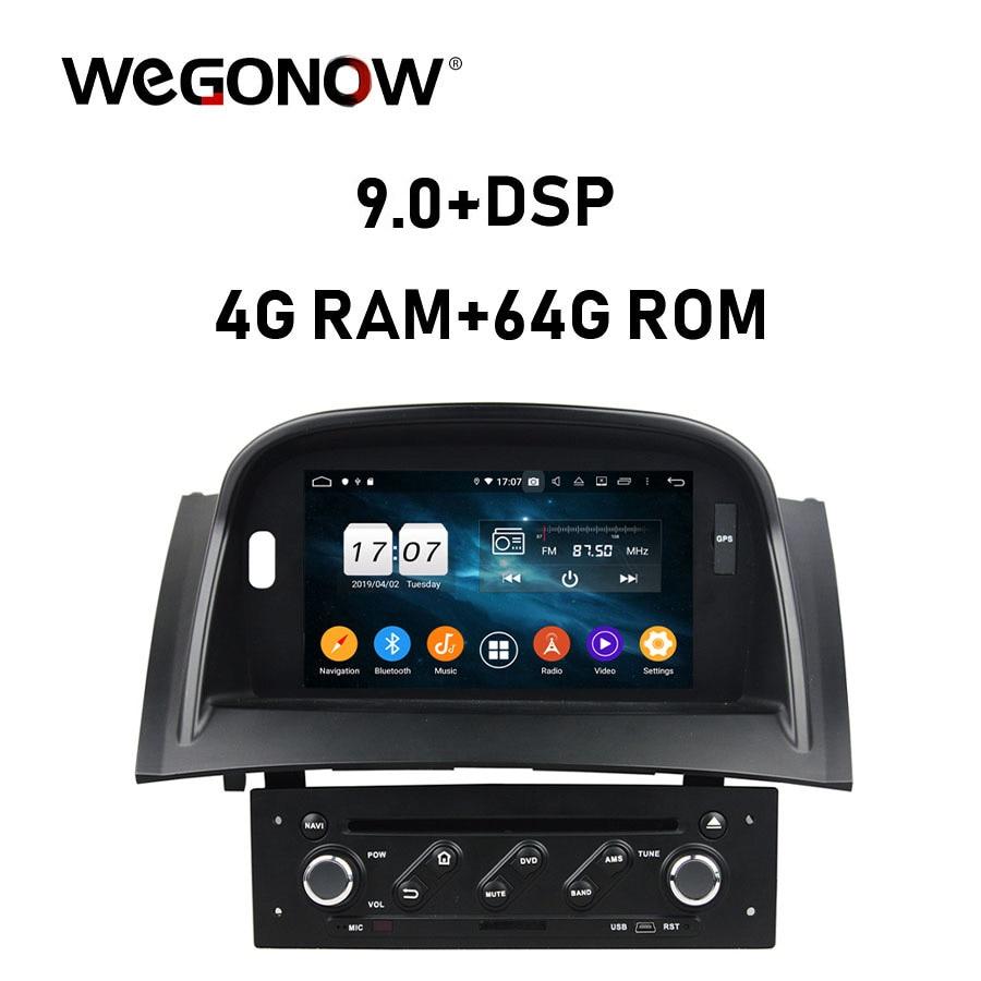 DSP IPS Android 9,0 para Renault Megane II 2 2004-2009 4GB RAM 64G ROM reproductor DVD para coche GPS navi mapa RDS Radio wifi 4G Bluetooth 5,0