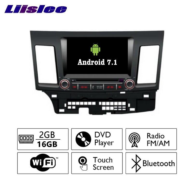 Liislee Android 7,1 2G RAM para Mitsubishi Lancer auto-Radio Audio Video Multimedia reproductor de DVD WIFI DVR GPS Navi navegación