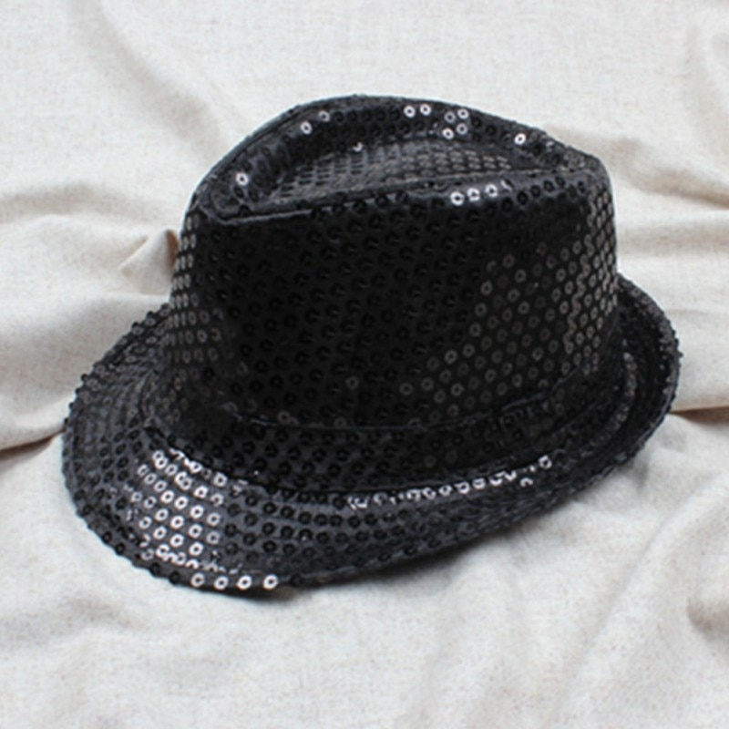 Child Kids Boy Hat Cap Top Girl Topper Jazz Trilby Popular Sequin Adult Flat