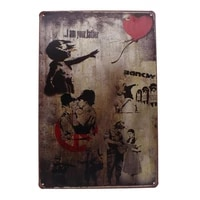 Affiche dart Vintage en metal  signe damour doux de larmee  decoration murale de Bar  de Pub  de maison