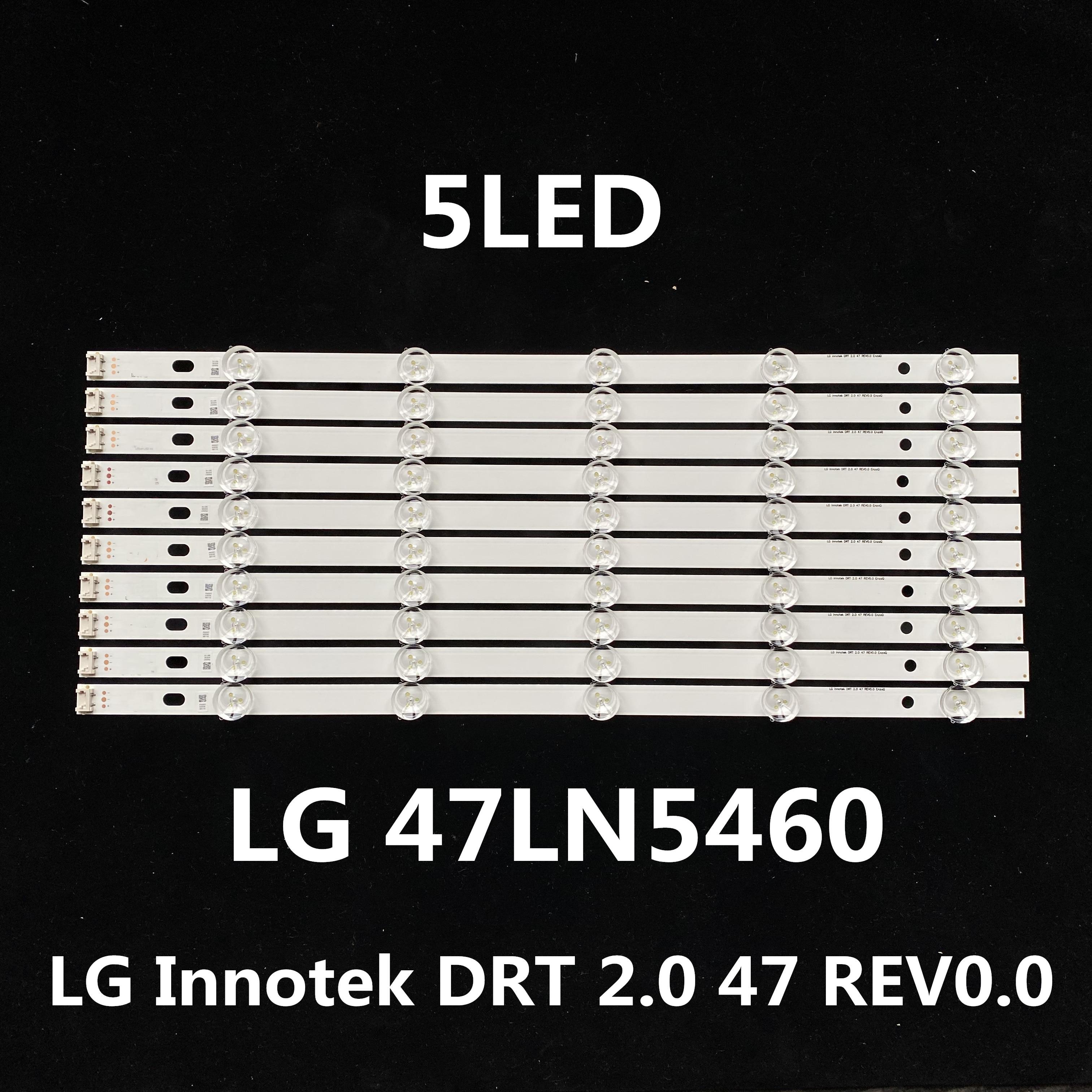 Tira de led para iluminación trasera reemplazo para LG 47LN5460 Innotek PLA2.0 47 pulgadas 1led = 3v DRT 2,0 47