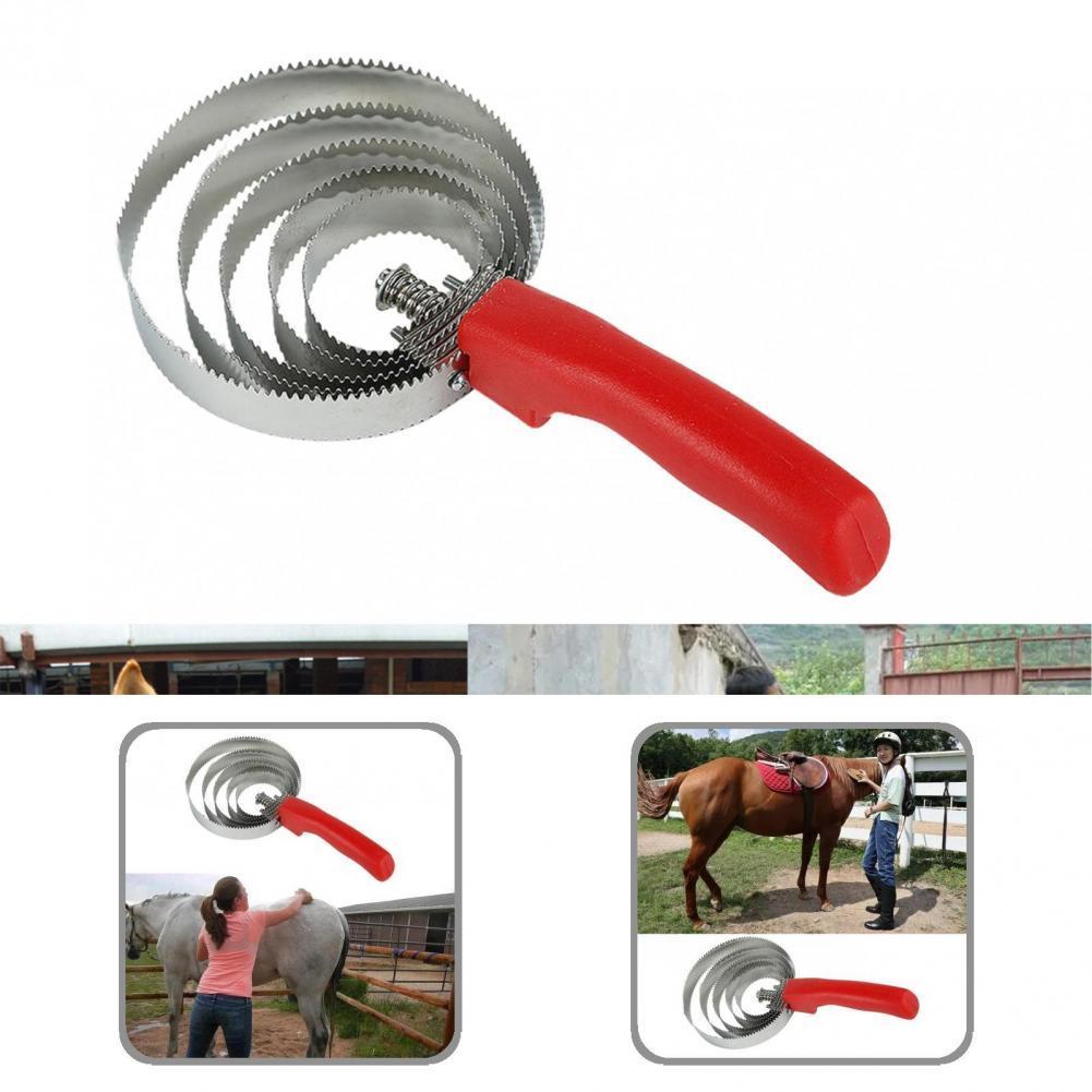 Износостойкая щетка для лошадей, зубчатая Расческа для лошадей, сберегающая лошадь, гребень для карри, не ломается, для личного использован...