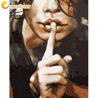 chenistory picture by numbers kits for adults man figure painting 60x75cm frame on canvas modern home wall decoration photos