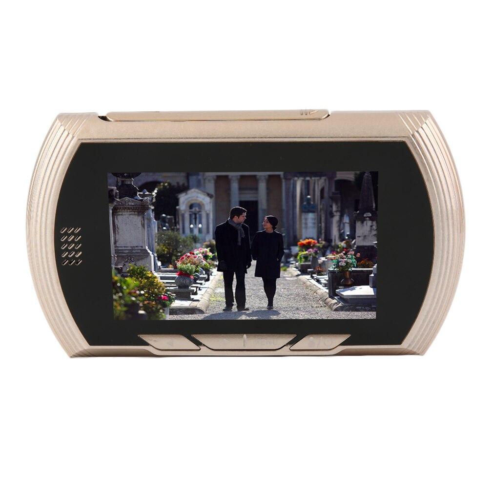 4.3 inch LCD Color Screen Digital Doorbell Smart Electronic Peephole Night Vision Door Video Camera Viewer Outdoor Door Be enlarge