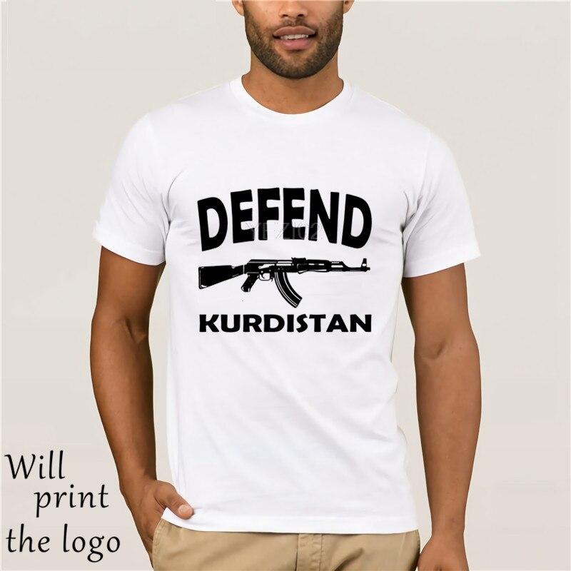 Los hombres de la marca de estilo de verano o-Cuello de manga corta de corte Slim Kurden del Kurdistán del Pkk Abdullah Ocalan Apo Erbil Syrien diseño
